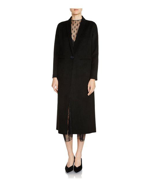 Maje | Black Galaxie Coat | Lyst