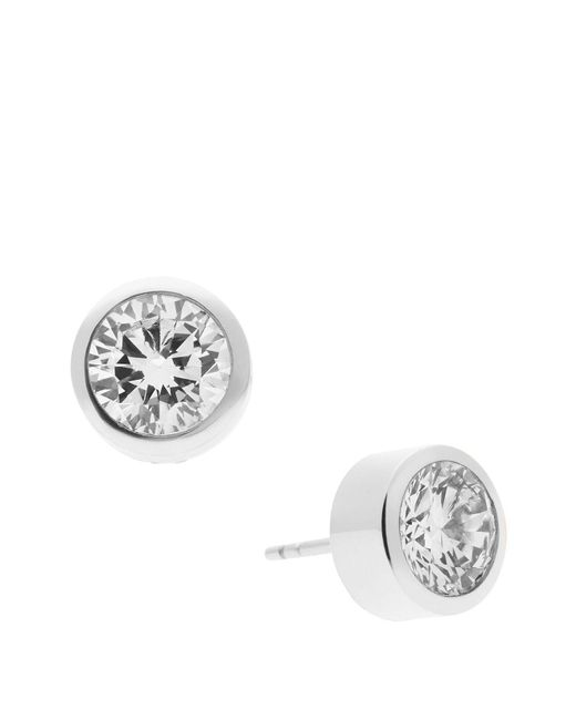 Michael Kors | Metallic Round Cut Stud Earrings | Lyst
