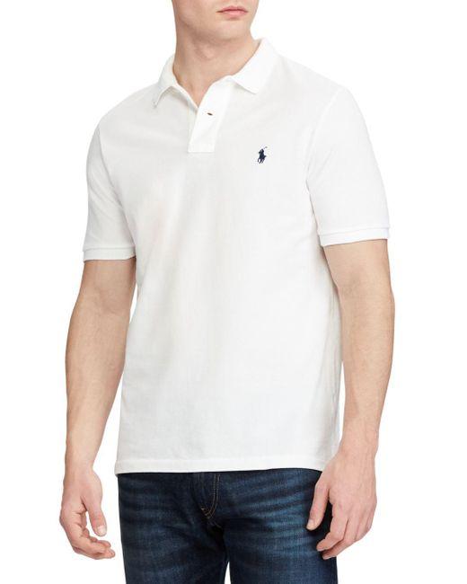 Polo Ralph Lauren - White Classic Fit Cotton Mesh Polo for Men - Lyst