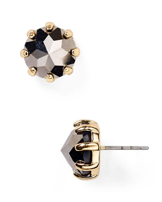 Rebecca Minkoff - Metallic Rhinestone Stud Earrings - Lyst