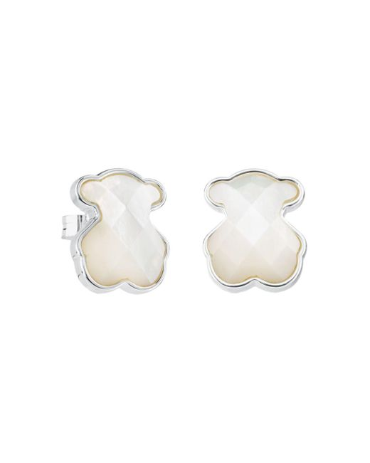 Tous - Multicolor Mother-of-pearl Bear Stud Earrings - Lyst
