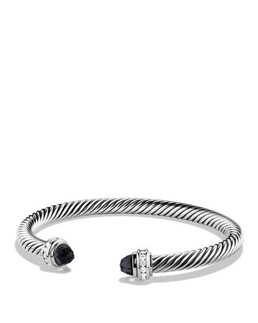 David Yurman - Metallic Cable Classics Bracelet With Black Onyx & Diamonds - Lyst