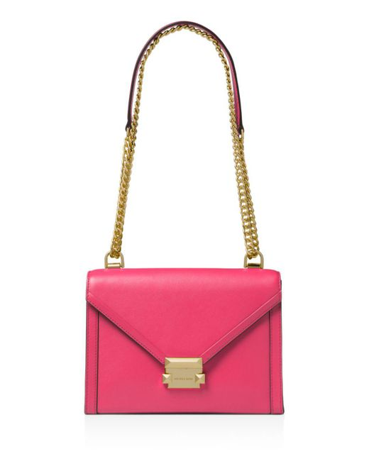 MICHAEL Michael Kors - Pink Whitney Large Leather Shoulder Bag - Lyst