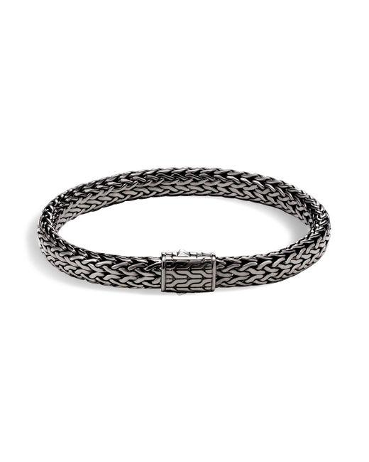 John Hardy | Metallic Men's Sterling Silver Medium Flat Classic Chain Bracelet for Men | Lyst