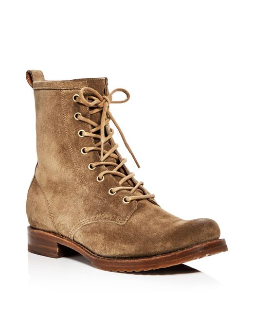 Frye - Multicolor Women's Veronica Combat Suede Lace Up Booties - Lyst
