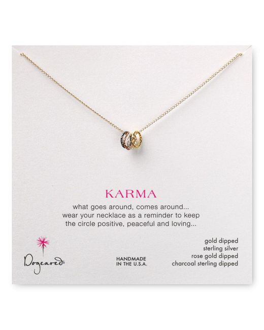 Dogeared | Multicolor Tiny Sparkle Karma Necklace, 18"