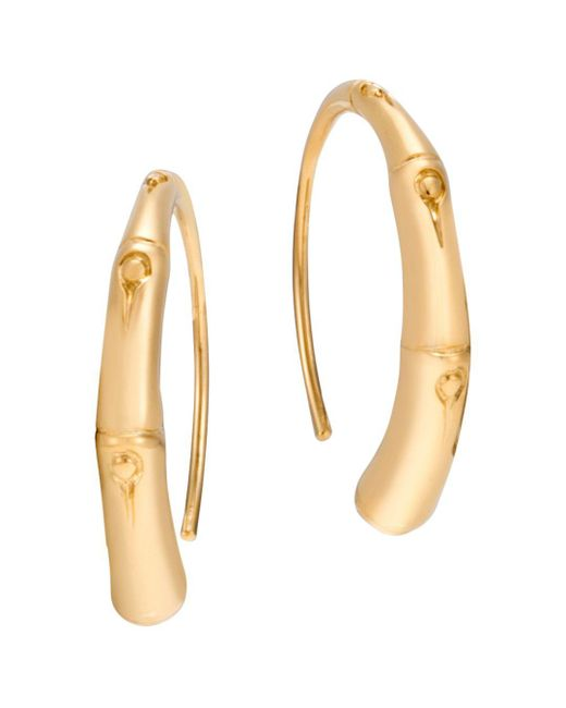 John Hardy - Metallic 18k Yellow Gold Bamboo Small Sweep Earrings - Lyst