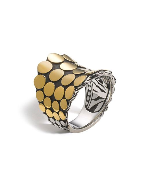 John Hardy | Metallic Dot Gold & Silver Saddle Ring | Lyst