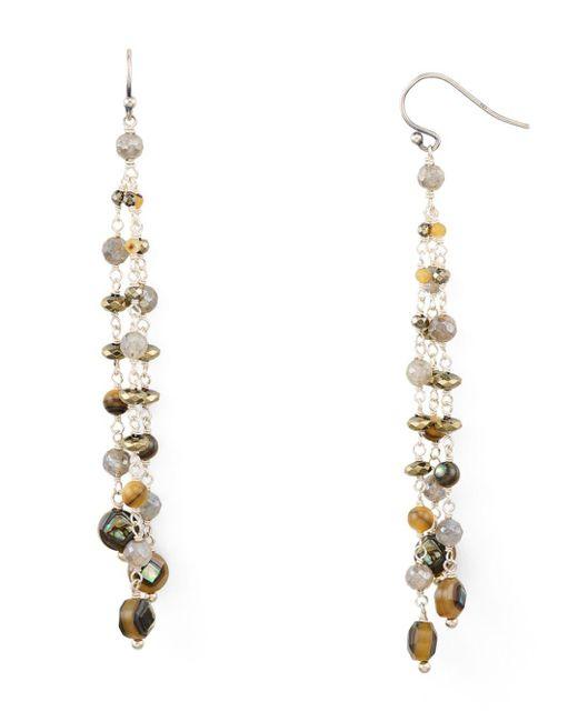 Chan Luu - Multicolor Beaded Drop Earrings - Lyst