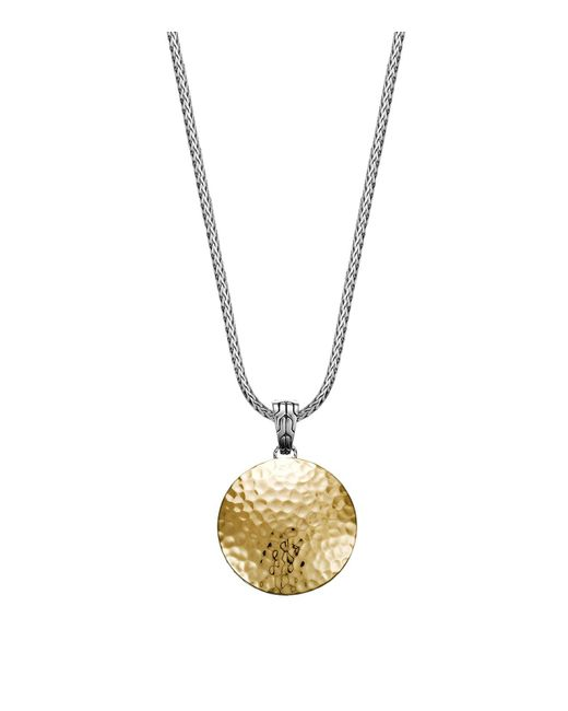 John Hardy | Metallic Sterling Silver And 18k Gold Palu Medium Round Pendant | Lyst