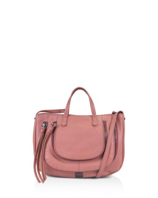 Kooba - Pink Monteverde Leather Satchel - Lyst