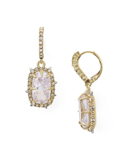 Alexis Bittar | Metallic Swarovski Crystal Earrings | Lyst