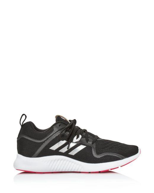 new styles 9b53b b4b56 ... Adidas - Black Womens Edgebounce Mesh Lace Up Sneakers ...