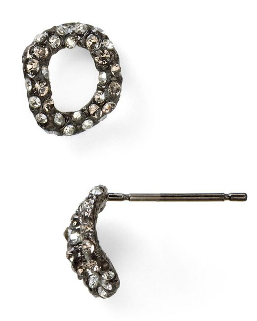 Alexis Bittar | Metallic Elements Jardin De Papillon Chain Link Stud Post Earrings | Lyst