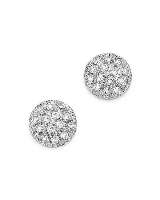 Dana Rebecca   Diamond Lauren Joy Mini Earrings In 14k White Gold   Lyst