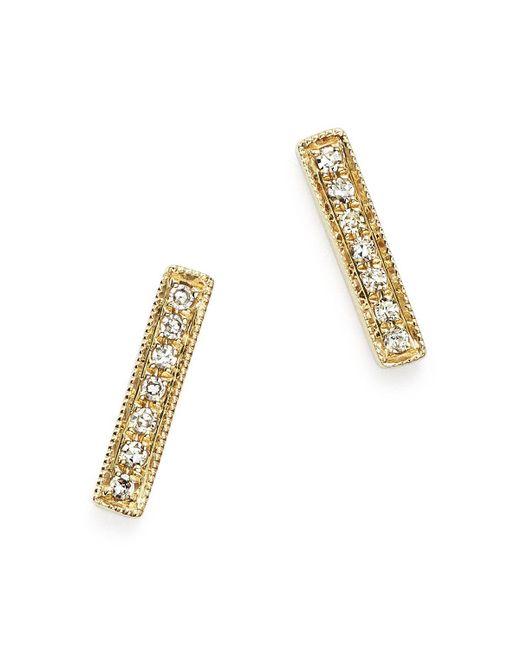 Dana Rebecca | Metallic Diamond Sylvie Rose Earrings In 14k Yellow Gold | Lyst