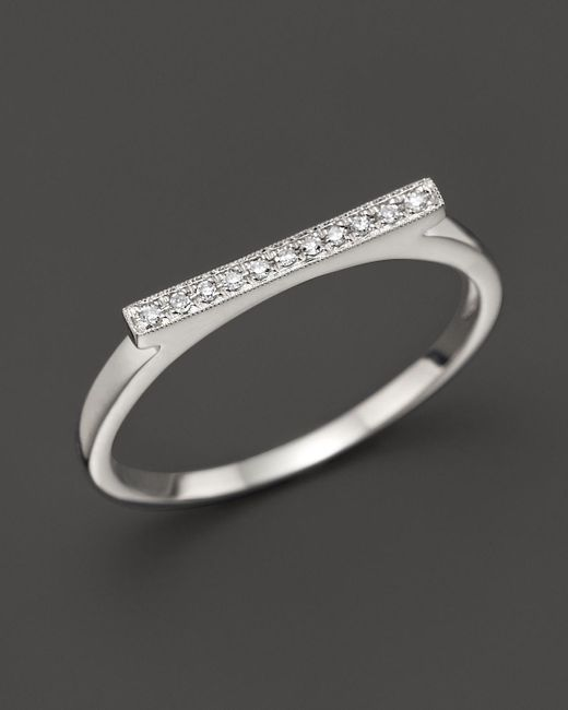 Dana Rebecca | Diamond Sylvie Rose Ring In 14k White Gold | Lyst