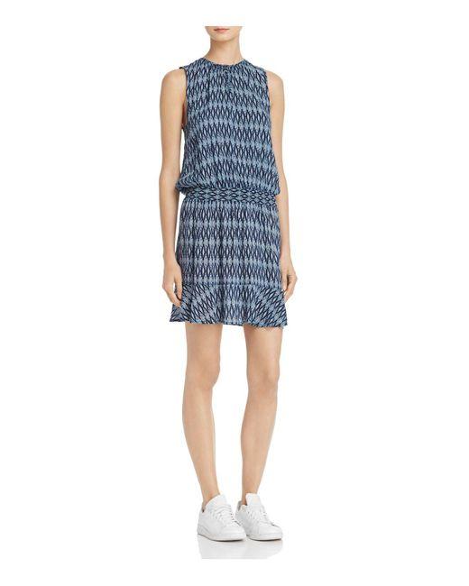 Soft Joie | Blue Zealana Ikat Print Dress | Lyst