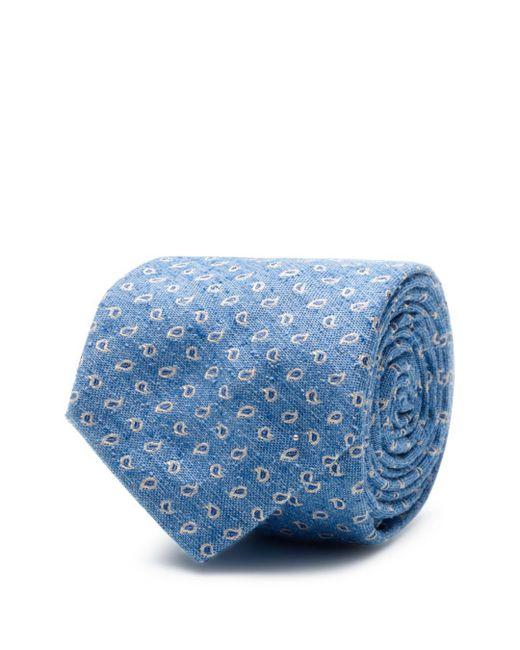 Ledbury - Blue Leclair Classic Tie for Men - Lyst