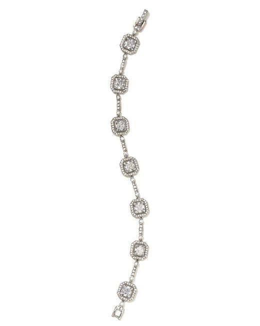 Nadri   Metallic Framed Line Bracelet   Lyst