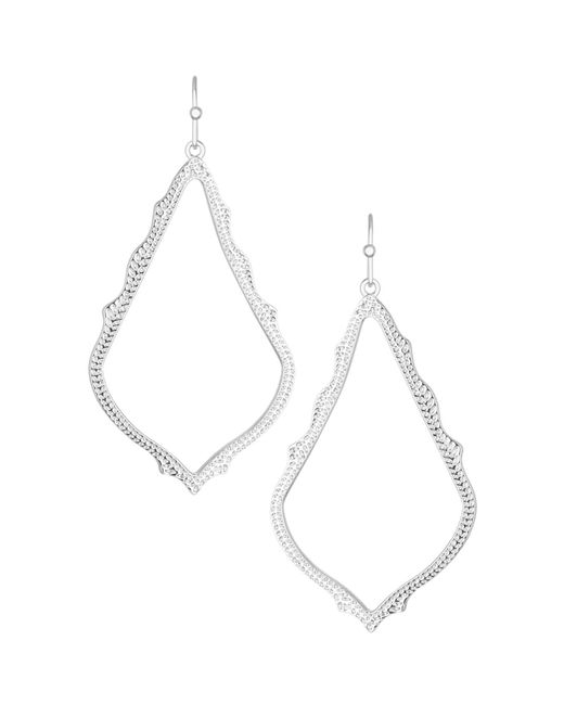 Kendra Scott | White Sophee Earrings | Lyst
