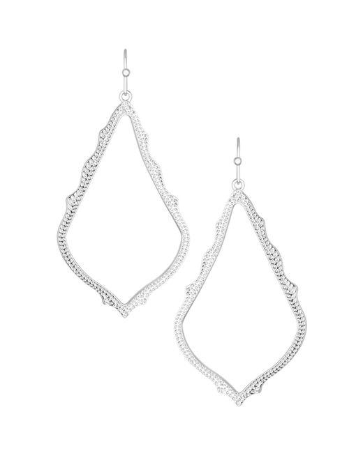 Kendra Scott - White Sophee Earrings - Lyst