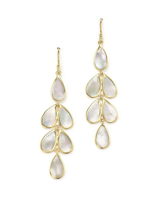 Ippolita - Metallic 18k Yellow Gold Rock Candy® Cascade Teardrop Earrings With Mother-of-pearl - Lyst