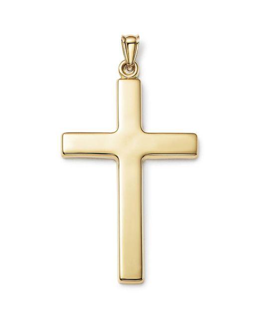 Bloomingdale's - Metallic Men's Large Cross Pendant In 14k Yellow Gold for Men - Lyst