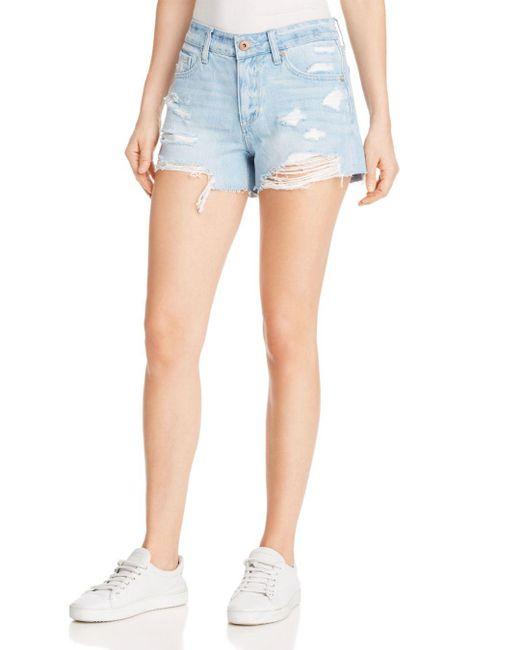 Pistola - Blue Asher Girlfriend Cutoff Denim Shorts In Tides - Lyst