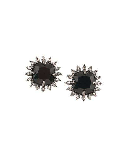 Carolee - Black Cushion Clip-on Earrings - Lyst