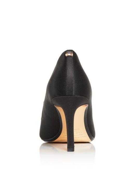 1030395f7c8e95 ... Ted Baker - Black Women's Dahrlin Embellished Satin Pointed Toe Pumps -  Lyst