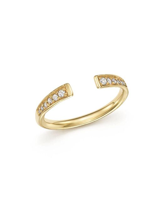 Zoe Chicco - Metallic 14k Gold And Diamond Open Ring - Lyst