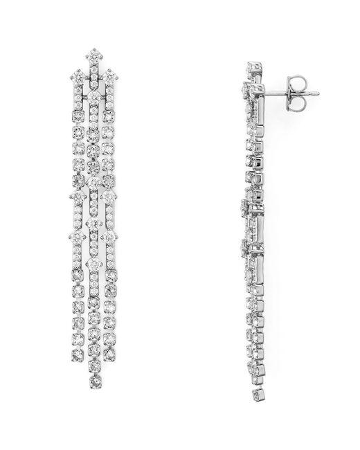 Nadri | Metallic Gloria Fringe Earrings | Lyst