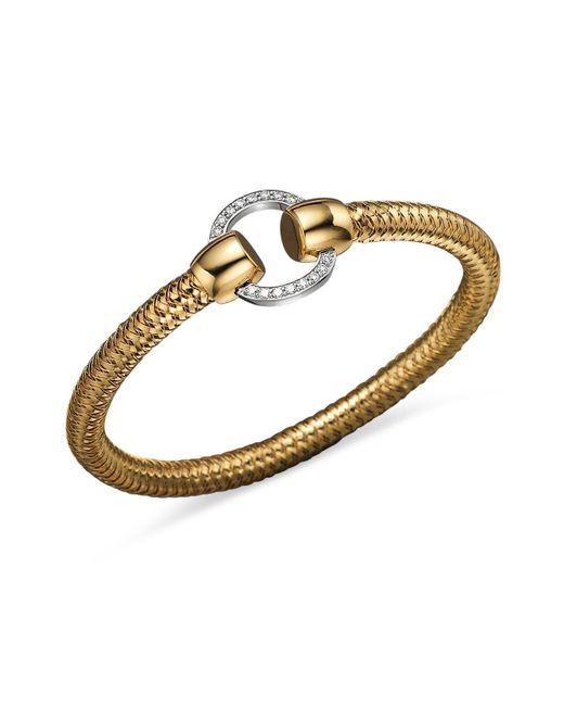 Roberto Coin - 18k Yellow And White Gold Primavera Diamond Bracelet - Lyst