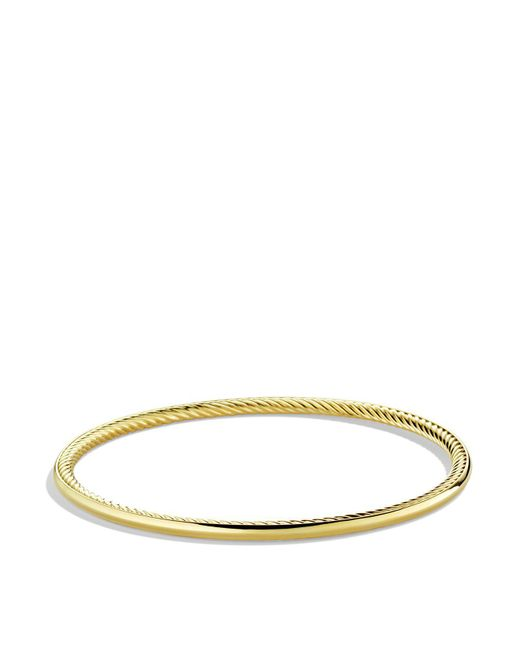 David Yurman | Yellow Cable Inside Bangle In Gold | Lyst