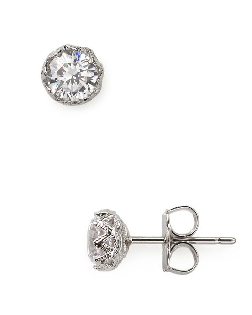 Nadri - Metallic Stud Earrings - Lyst