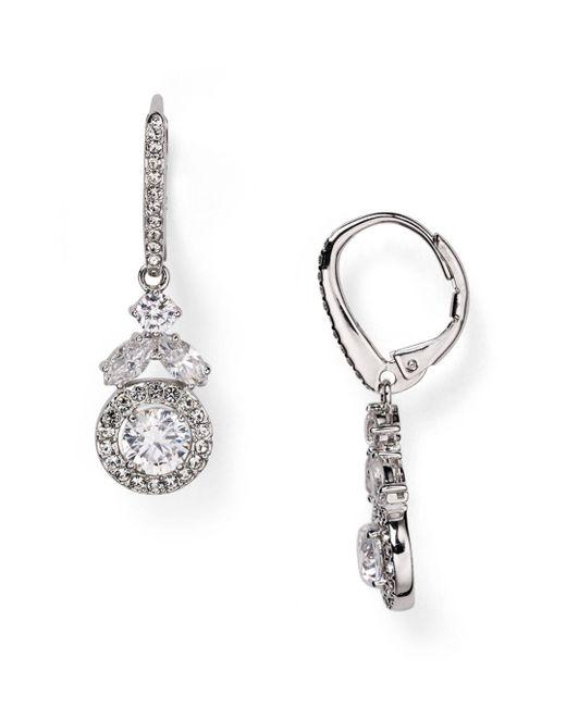 Nadri - Metallic Swarovski Crystal Drop Earrings - Lyst