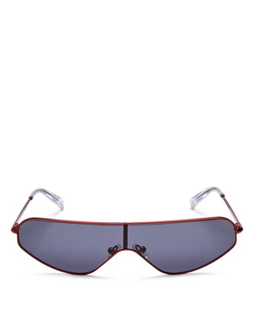 Kendall + Kylie - Multicolor Kendall And Kylie Women's Surfer Shield Sunglasses, 63mm - Lyst