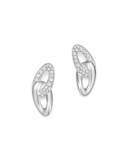 Ippolita | Metallic Sterling Silver Cherish Pavé Diamond Link Stud Earrings | Lyst