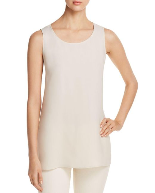 Lafayette 148 New York - Multicolor Ruthie Sleeveless Silk Blouse - Lyst