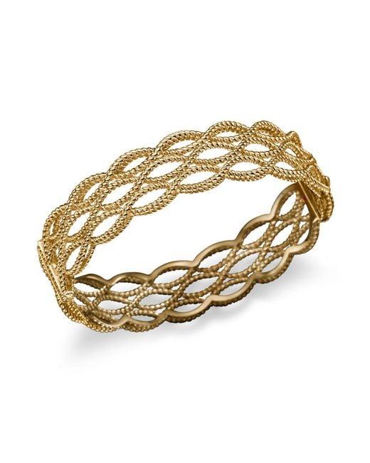Roberto Coin - Metallic 18k Yellow Gold Triple Row Twisted Bangle - Lyst