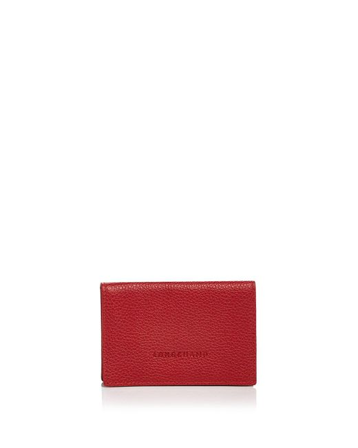 Longchamp | Red Card Case - Veau Foulonne | Lyst