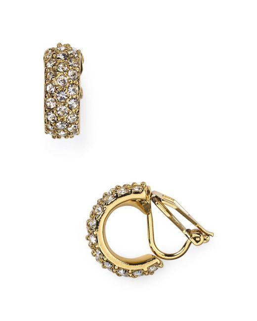Ralph Lauren - Metallic Lauren Pavé Clip-on Earrings - Lyst
