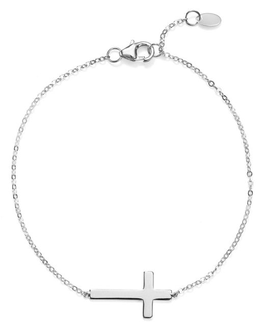 Bloomingdale's - Metallic Cross Chain Bracelet - Lyst