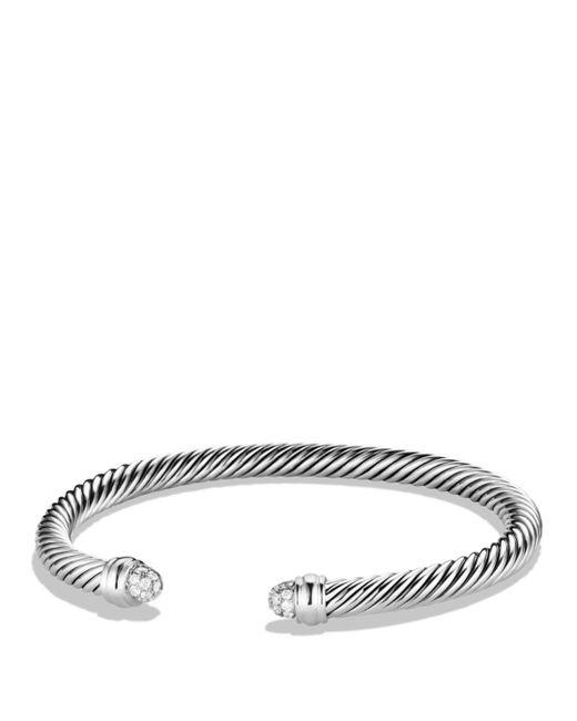 David Yurman - Metallic Cable Classics Bracelet With Diamonds - Lyst