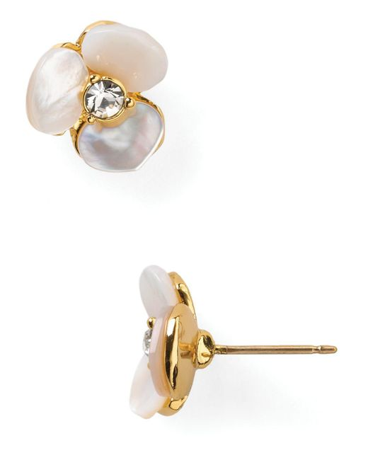 kate spade new york | Natural Pansy Stud Earrings | Lyst