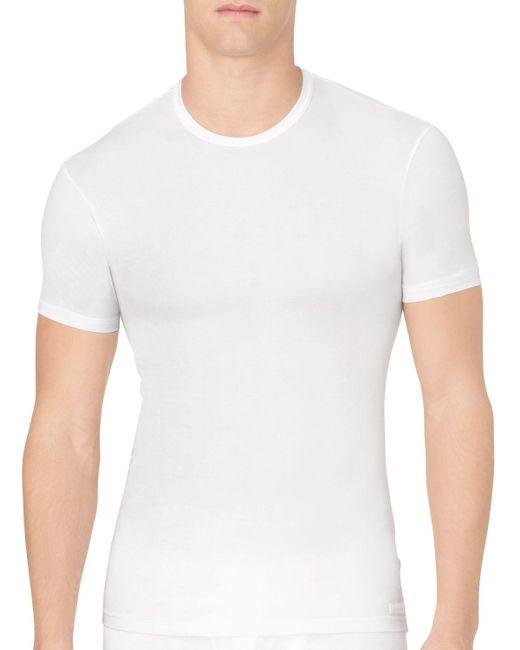 Calvin Klein | White Body Modal Crew Neck Tee for Men | Lyst