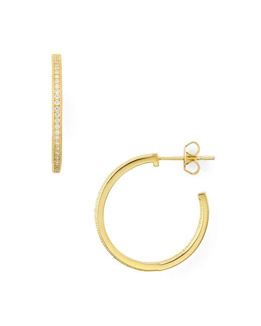 Aqua | Metallic Hoop Earrings | Lyst