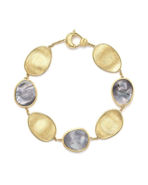 Marco Bicego - Metallic 18k Yellow Gold Lunaria Bracelet With Black Mother-of-pearl - Lyst