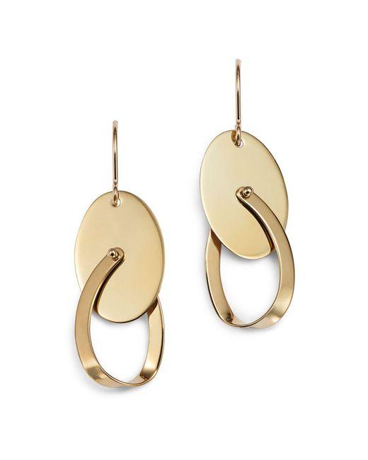 Bloomingdale's - Metallic Oval Swing Earrings In 14k Yellow Gold - Lyst